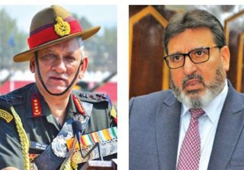 الگ نقشہ ہونا کوئی جرم نہیں/ بھارتی فوج اپنے کام پر توجہ دے، سید الطاف بخاری