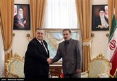 دیدار حموده یوسف صباغ رئیس مجلس سوریه با علی شمخانی دبیر شورای عالی امنیت ملی