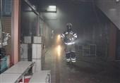 تصاویر/ نبرد 60 آتشنشان با آتش در پاساژ بزرگ برلن