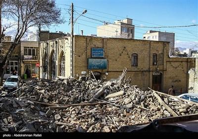 تخریب سه خانه قدیمی در محله کبابیان همدان