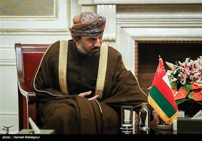 خالد بن هلال بن ناصر المعولی رئیس مجلس عمان در دیدار با علی لاریجانی رئیس مجلس شورای اسلامی