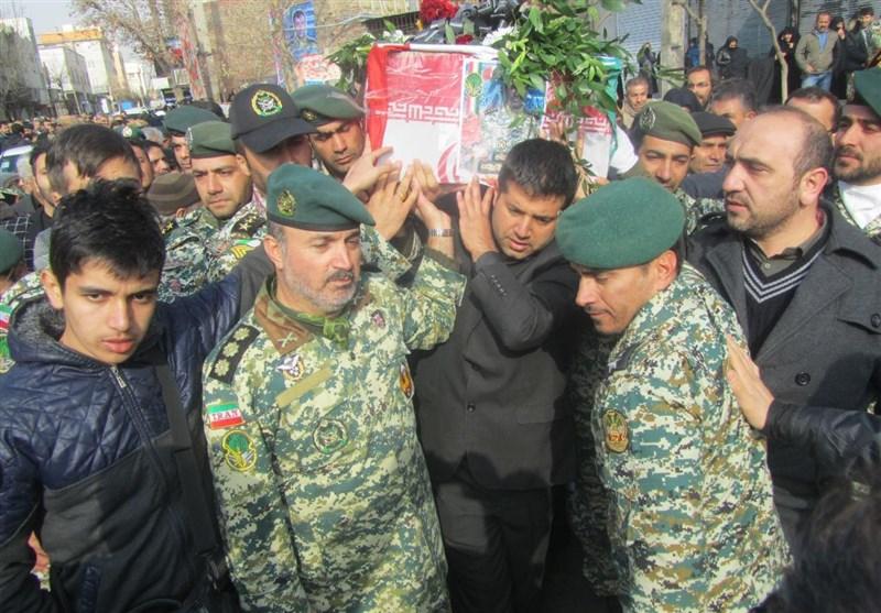 تشییع شهید در اسلامشهر