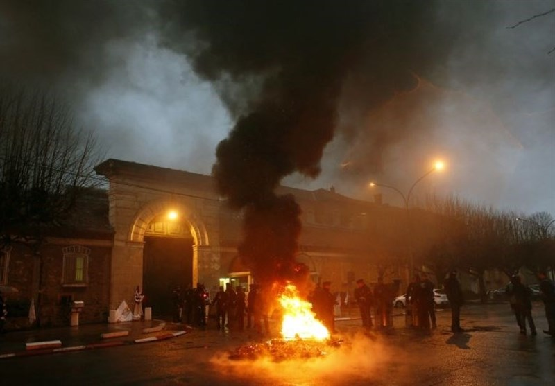 Protesting French Prison Guards Clash with Police
