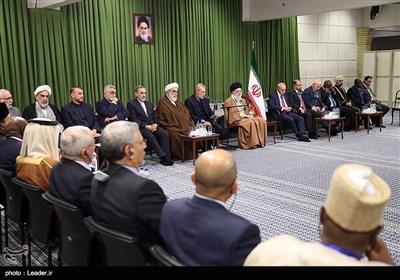 دیدار شرکتکنندگان در سیزدهمین کنفرانس اتحادیه بینالمجالس سازمان همکاری اسلامی با رهبر معظم انقلاب