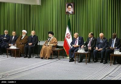 دیدار شرکتکنندگان در کنفرانس اتحادیه بینالمجالس با رهبر معظم انقلاب