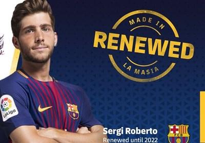 سرخی روبرتو با بارسلونا تمدید کرد