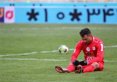 مصدومیت محمد ابراهیمی در تمرین تراکتورسازی پیش از بازی با الغرافه قطر