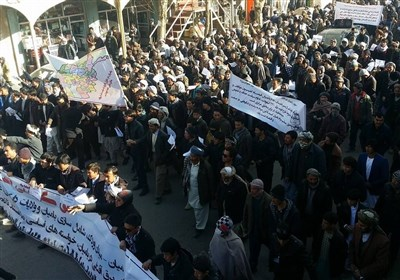 تظاهرات در مرکز افغانستان در اعتراض به تبعیض دولت کابل علیه مناطق مرکزی