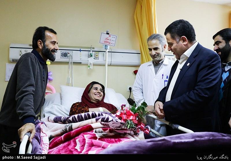 عیادت رییس جمعیت هلال احمر از بیماران کرمانشاهی
