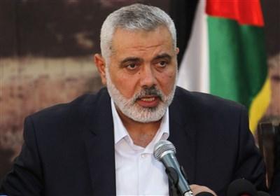"""هنیه: تروریسم """"اسرائیلی"""" تا ابد در اراضی ما باقی نخواهد ماند"""