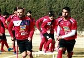 تمرین گلزنی پرسپولیسیها در روز مصدومیت حسینی