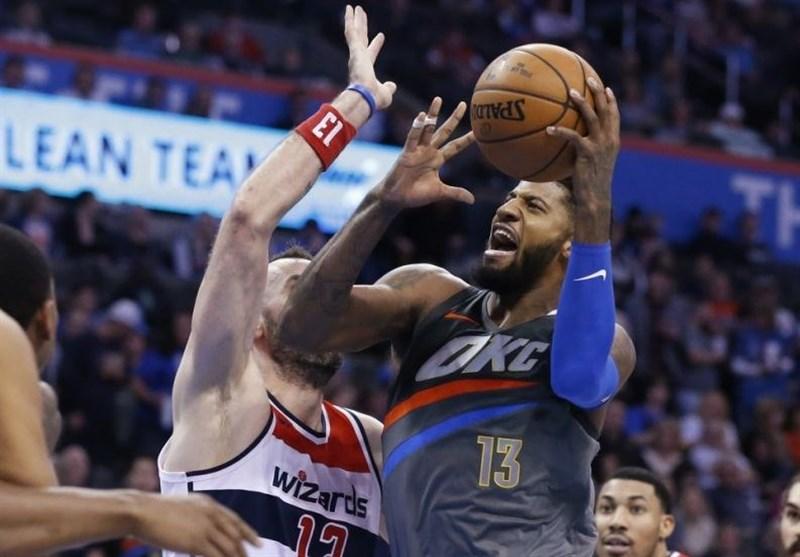 لیگ NBA| پیروزی تاندر در ثانیه پایانی/ شکست پلیکانز در شب مصدومیت کری
