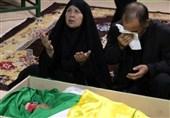 وداع با دومین شهید مدافع حرم از یک خانواده فاطمیون+عکس