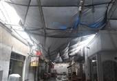 ریزش سقف پاساژی در یافتآباد به علت سنگینی برف + تصاویر