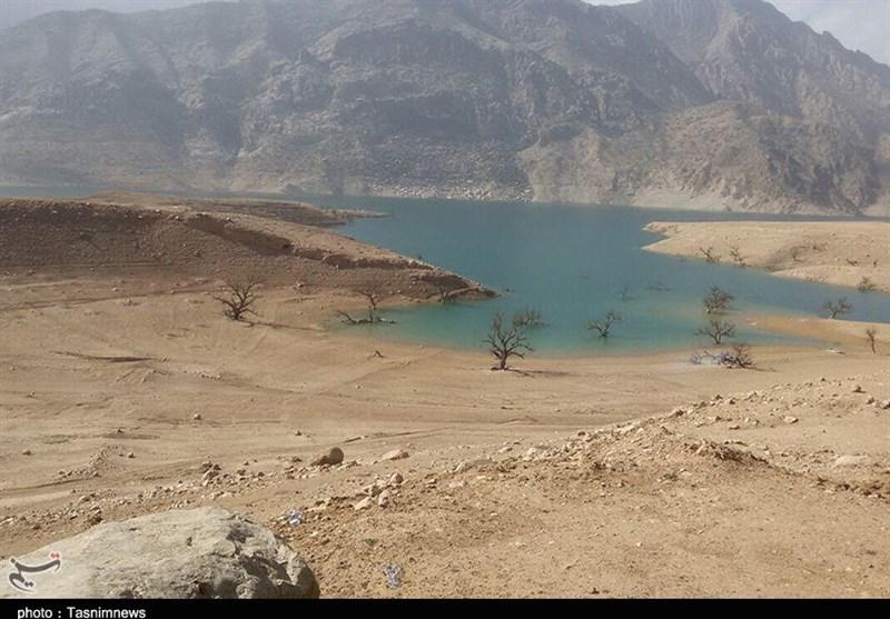 وضعیت پشت کم آبی و خشکسالی سد کارون 3