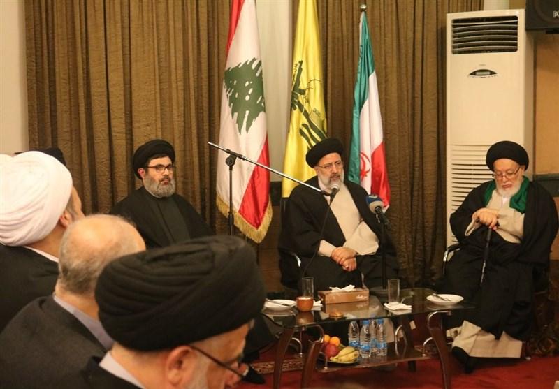 سابق صدارتی امیدوار اور حرم امام رضا علیہ السلام کے متولی کی سید حسن نصراللہ سے ملاقات