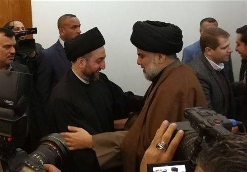 مقتدی صدر و عمار حکیم در نجف دیدار کردند
