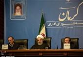 کرمان|جلسه شورای اداری استان کرمان با حضور رئیسجمهور بهروایت تصویر