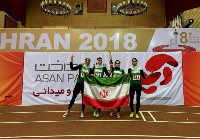 Iran's Women's 4x400 Relays Wins Silver at Asian Indoor Championships