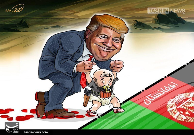 کاریکاتور/ آمریکا و لانهگذاری داعش در افغانستان