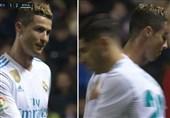 رونالدو خطاب به فیلمبردار بازی رئال مادرید - لوانته: چرا از من فیلم میگیری!