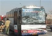 تصادف زنجیرهای 10 خودرو در بزرگراه امام علی + تصاویر