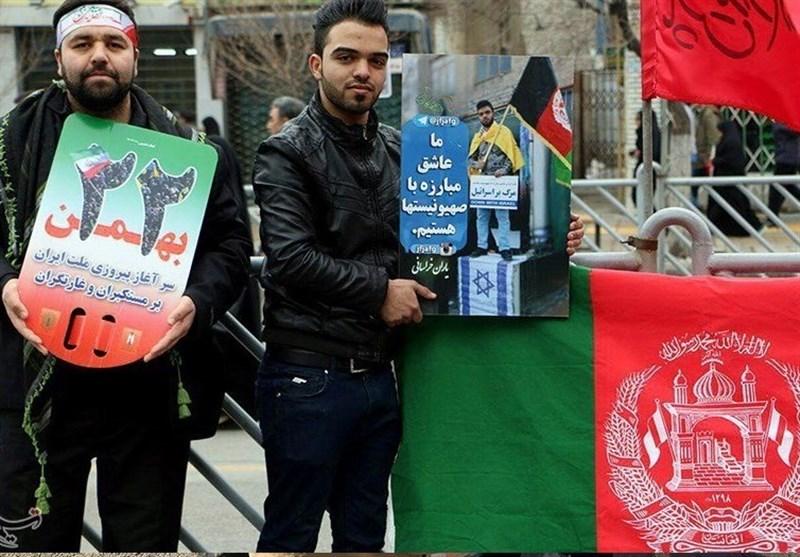 سرود مهاجران افغانستانی برای سالگرد پیروزی انقلاب اسلامی+فیلم