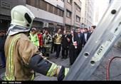 دادستان تهران و رئیس پلیس پایتخت در محل ساختمان برق حرارتی حضور یافتند