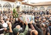 ساری|پیکر شهید مصطفی علمدار در مازندران تشییع شد