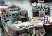هرمزگان کشف 10 میلیارد کالای قاچاق توسط دریابانی ابوموسی و پارسیان
