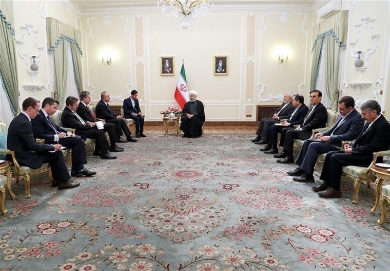 الرئیس روحانی : یجب وقف اراقة الدماء فی المنطقة
