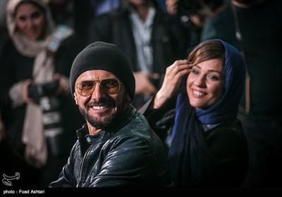 امین حیایی و سارا بهرامی بازیگران فیلم دارکوب