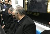 «22 بهمن 96»- 4|حضور نجفی و هاشمی رفسنجانی در مترو برای شرکت در راهپیمایی+ عکس