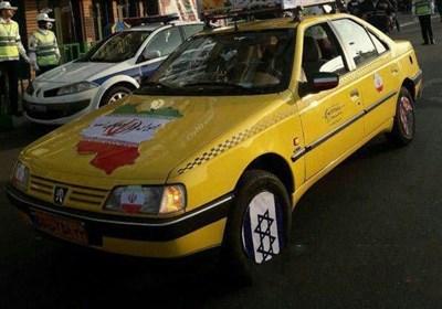 «22 بهمن 96»-7| اقدام جالب یک تاکسی دار تهرانی در راهپیمایی 22 بهمن