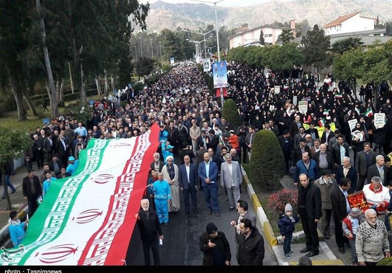 ساری| فریاد پرشور مردم مازندران در حماسه حضور 22 بهمن به روایت تصویر