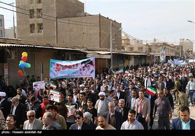 راهپیمایی 22 بهمن در آبادان