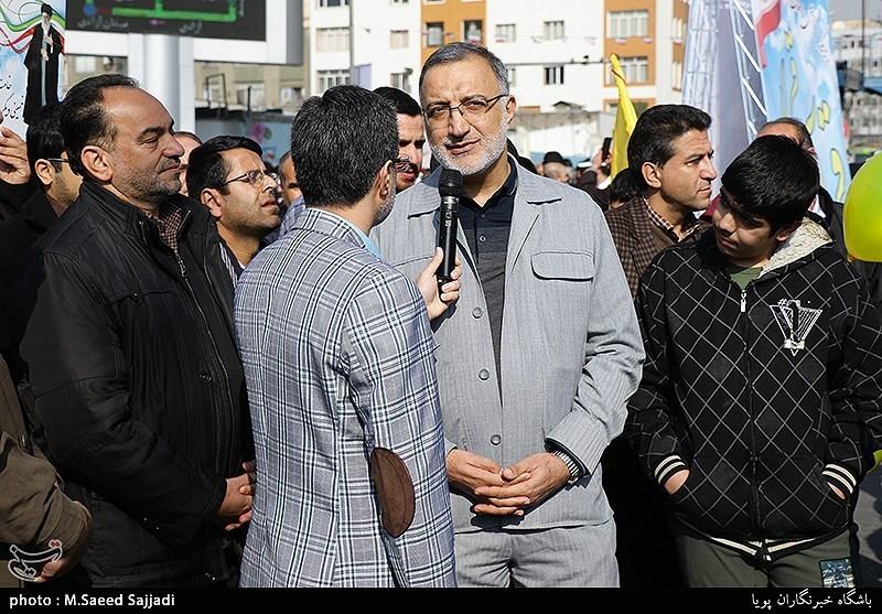 علیرضا زاکانی در راهپیمایی 22 بهمن - تهران