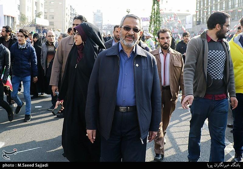 سردار غلامحسین غیبپرور رئیس سازمان بسیج مستضعفین در راهپیمایی 22 بهمن - تهران