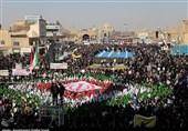 راهپیمایی پرشور 22 بهمن در یزد