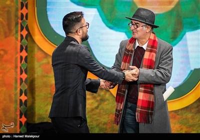 کامبوزیا پرتوی و هومن سیدی در مراسم اختتامیه سیوششمین جشنواره فیلم فجر