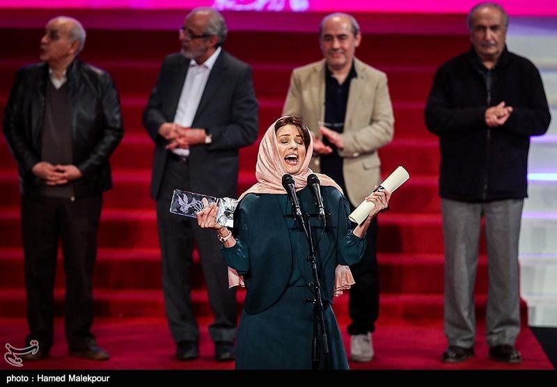 اهداء سیمرغ بلورین بهترین بازیگر نقش اول زن به سارا بهرامی برای فیلم دارکوب