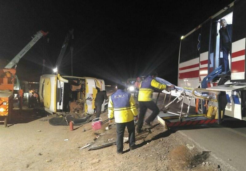خراسان جنوبی| واژگونی اتوبوس محور دیهوک- فردوس 9 کشته و 36 زخمی برجای گذاشت + اسامی