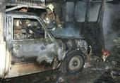آتشسوزی در گاراژ 1200 متری در خیابان فدائیان اسلام + تصاویر