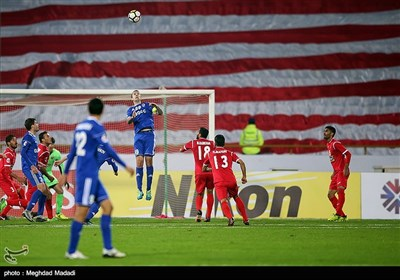 دیدار تیم های فوتبال پرسپولیس و نسفقارشی ازبکستان