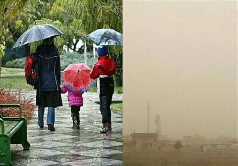 لرستان| جدال خاک و باران در هوای لرستان؛ گردوخاک عقب نمیکشد