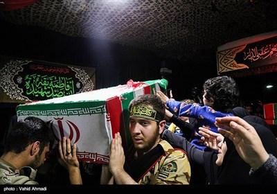 مراسم وداع با پیکر شهید مدافع حرم سید احسان میرسیار