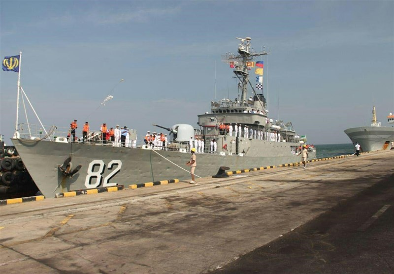 Iranian Naval Fleet Berths at Indian Port