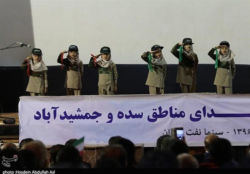 خوزستان| هفتمین یادواره بزرگ شهدای مناطق سده و جمشیدآباد آبادان به روایت تصویر