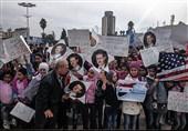 گزارش خبرنگار تسنیم در شمال سوریه : مردم حلب علیه دخالت آمریکا در سوریه تظاهرات کردند+تصاویر