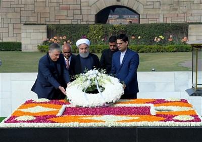 احترام روحانی به رهبر فقید هندوستان